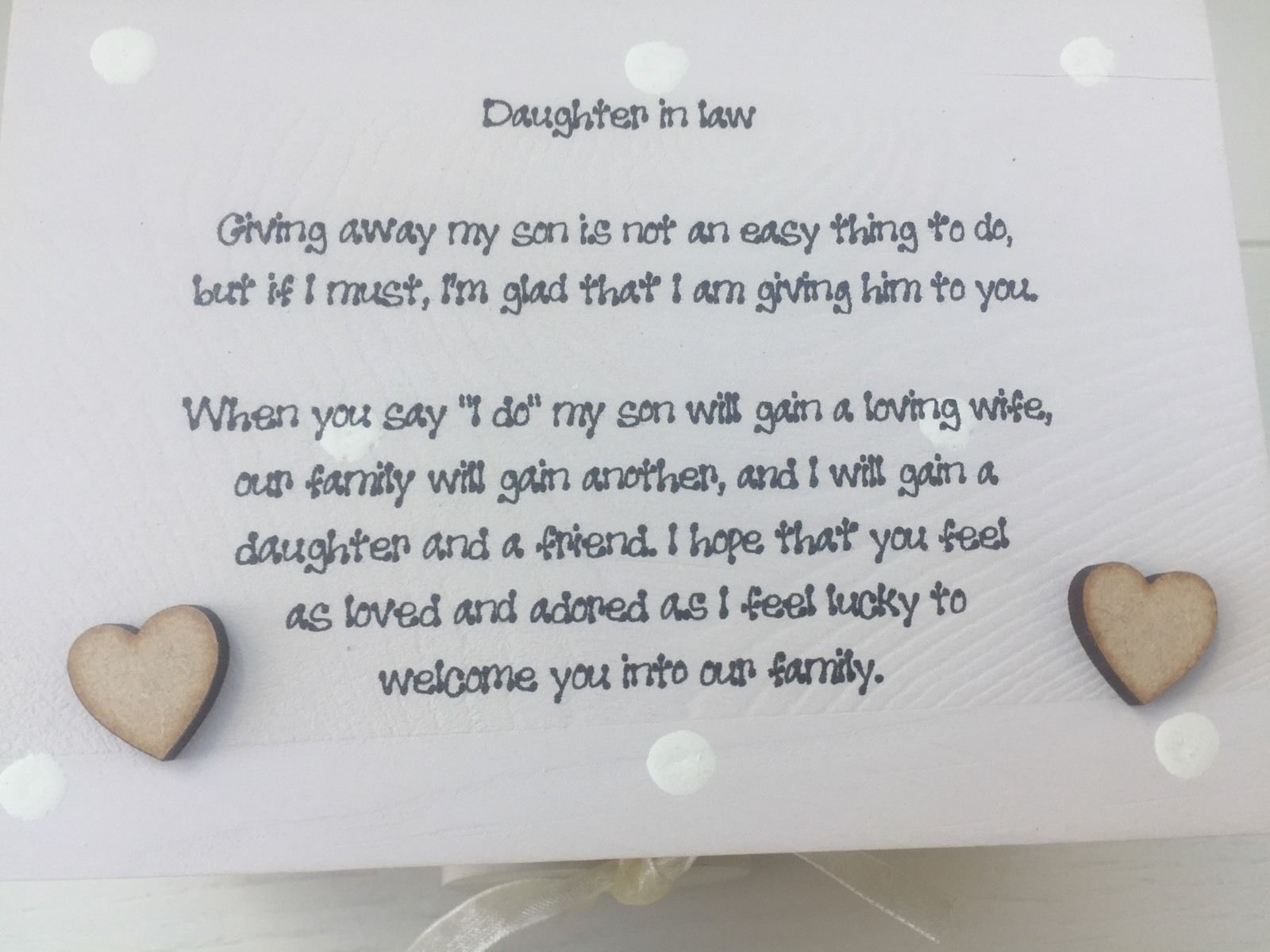 Shabby Personalised Chic Daughter In Law From Mother Of The Groom